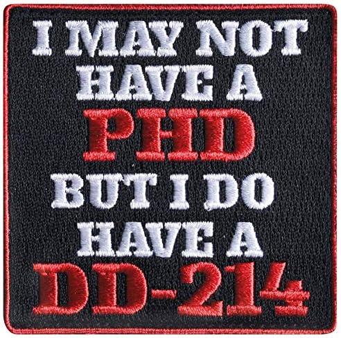 [해외]I May not Have a PHD Hook And Loop Patch / I May not Have a PHD Hook And Loop Patch