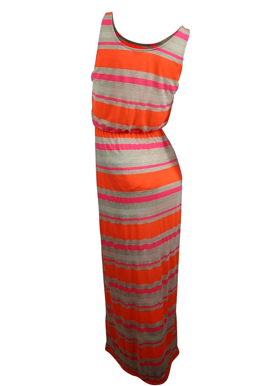 40ec6abe3c2 Amazon.com  Splendid Women s Orange Striped Maxi Knit Dress