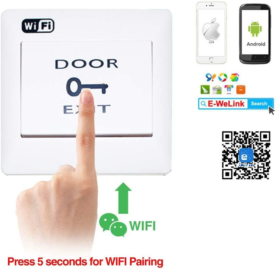 2.4g Wifi Door Keypad Access Control Kit With Electric Fail-secure Strike Lock Smartphone Controlled Home & Kitchen