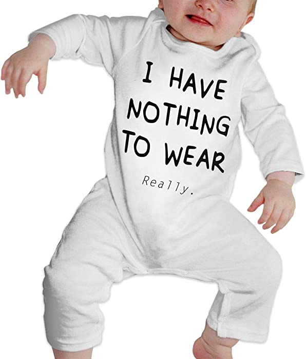 CharmKAT Unisex Baby O-Neck Long-Sleeve Solid Color Onesie Jumpsuit