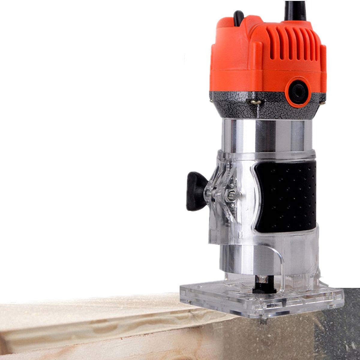 Cypress Shop Electric Wood Trimmer Router Joiner Hand Woodworking Carpenter Laminator Palm Cutting Machine 580 Watt Wood Lathes Hand Power Tools Equipments