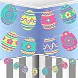 Easter Egg Bunting Garland Paper Hanging Decoration Kids Children Hunt Cute Banner Party Pattern Flowers