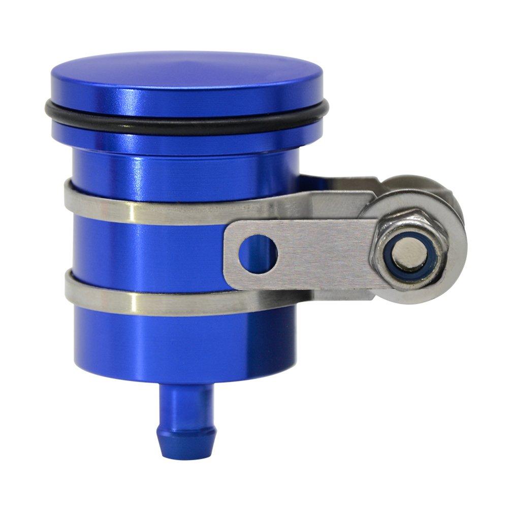 Moto Accessoire CNC Alu Anodisé Réservoir Liquide De Freins Et Liquide D'embrayage Pour Yamaha YZF R1 R3 R6 R25 MT07 MT09 MT01 MT03 MT10 - Bleu ZHUOWU