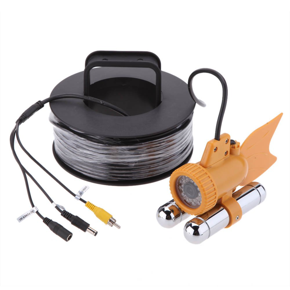 Lixada 20M / 30M Cable Underwater Fishing Color Video 600TVL SONY CCD Camera 24pcs White LEDs Nightvision Waterproof Fish Finder