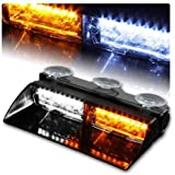 NISUNS 16 LED High Intensity LED Law Enforcement Emergency Hazard Warning Strobe Lights 18 Modes for Interior Roof/Dash…
