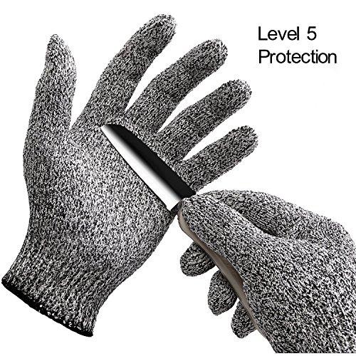 Schnittschutzhandschuhe, Inf-way Hochleistung Schnittschutzhandschuhe Küchen-Handschuhe Leicht 5 Handschutz Ebene, lebensmittelecht schnittfeste Handschuhe, Stahlgeflecht, sehr schnittbeständig