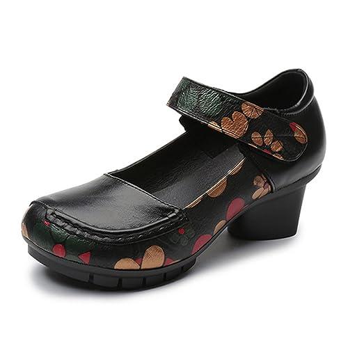 Gracosy Ballet Flats Merceditas Low Bombas de Tacón Medio para Mujer Zapatos de Satén para Boda ...