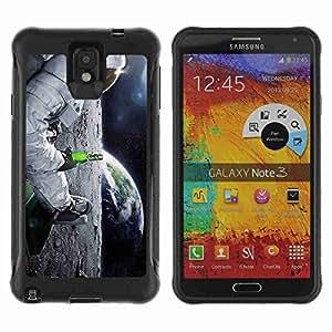 A-type Arte & diseño Anti-Slip Shockproof TPU Fundas Cover Cubre Case para Samsung Galaxy Note 3 III / N9000 / N9005 ( Funny Astronaut & Beer )