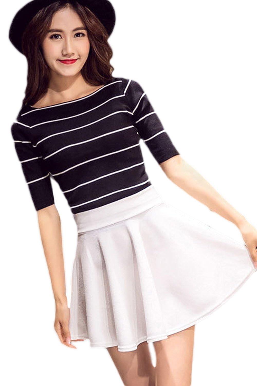 db5a844d1 Women Summer Teengirls Pleated Solid Mini Skirts Plus Size: Amazon.ca:  Clothing & Accessories