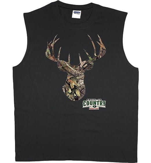 74c8a5b29f24b4 Amazon.com  Men s sleeveless shirt Mossy Oak deer hunting muscle tee ...