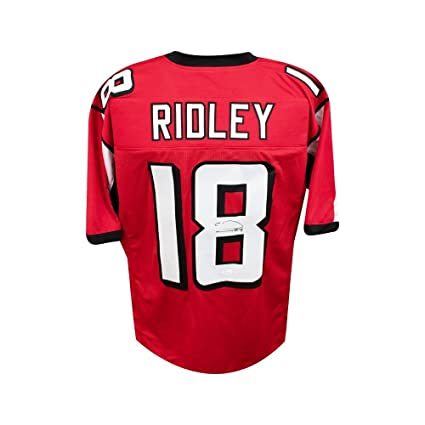 Image Unavailable. Image not available for. Color  Calvin Ridley  Autographed Atlanta Falcons Custom Red Football Jersey - JSA COA 2bf9aa9fe