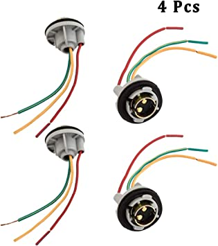 a light socket wiring diagram amazon com 1157 bay 15d lamp socket turn signal brake tail light  1157 bay 15d lamp socket turn signal