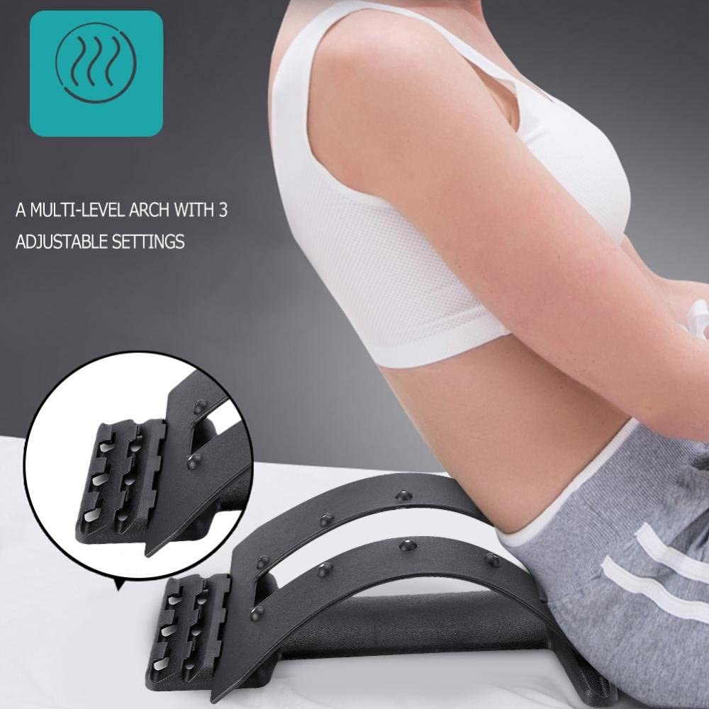 Magnet Spine Massager, Multi-Level Upper and Lower Back Supporter Lumbar Stretcher Back Spine Massage Waist Pain Relief Relax: Health & Personal Care