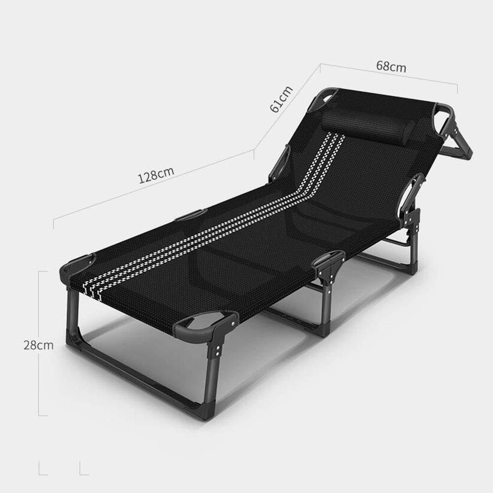 JIEER-C Fritid kontorsstol solsäng liggande fällbar säng Siesta Lounger resa utomhus camping hållbar stark T1
