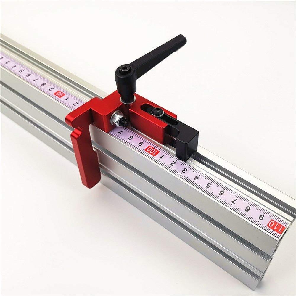 /Établi de travail pour cl/ôture Scie /à rainure en T en aluminium pour travail du bois Hauteur 75 mm Avec rails en T