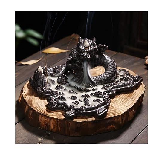 AJLNSL Escultura Creativa Dragón Incienso De Cerámica Horno ...