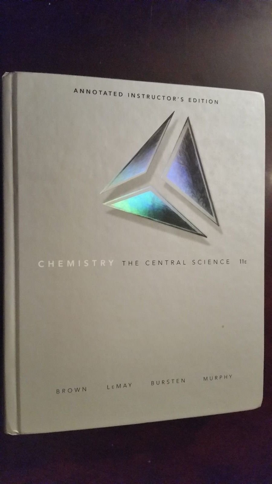 Chemistry The Central Science, 11th Edition, Annotated Instructor's Edition:  Bursten, Murphy Brown LeMay: 9780136012504: Amazon.com: Books