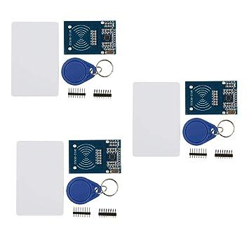 Amazon.com: HiLetgo - Juego de 3 sensores de tarjeta RFID ...