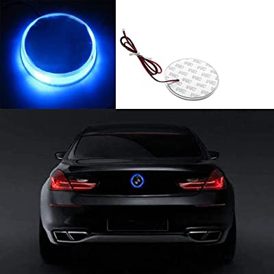 Xotic Tech 1x Ultra Blue Color 82mm Trunk Hood Emblem - Round LED Illuminated Emblem Background Light Lighting Kit For BMW 3 4 5 6 7 X M Z Series X3 X5 X6: Automotive