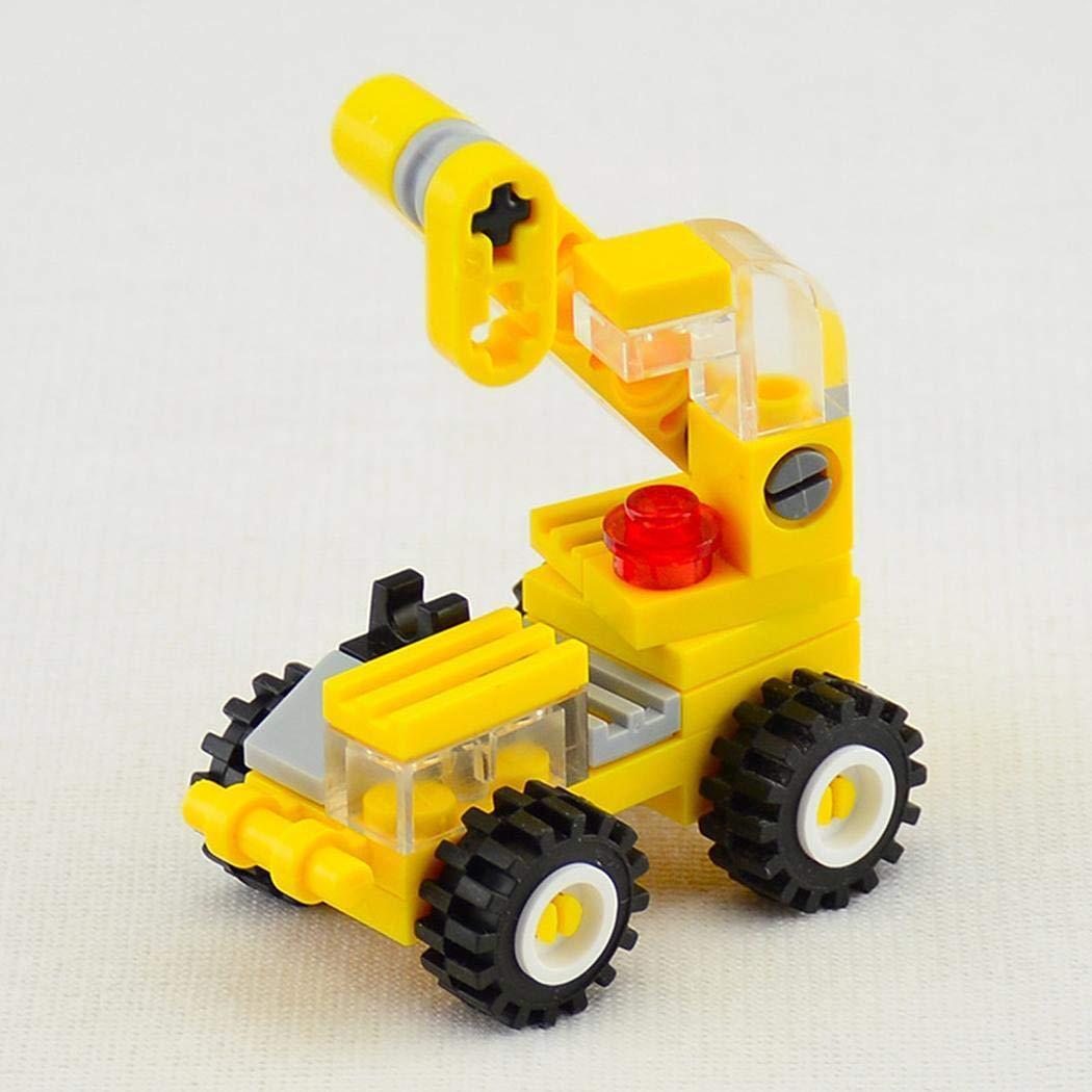 Qenci Toddler Mini Crane Forklift Bulldozer Excavator Dumper Building Block Toys by Qenci (Image #2)