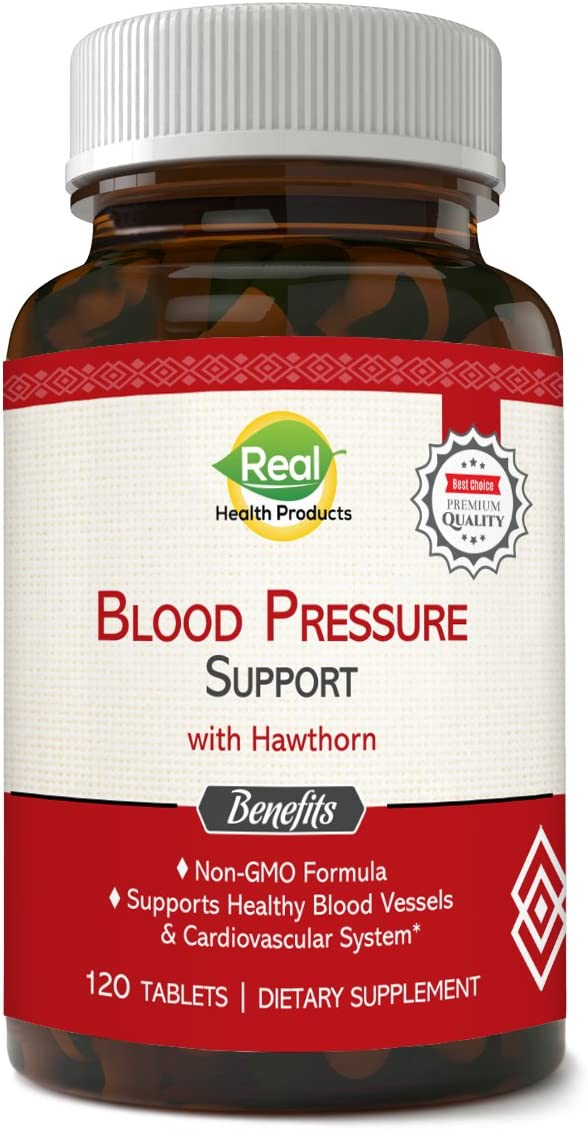 RHP Blood Pressure Support Supplement. Advanced Hypertension Supplement formulated for The Cardiovascular and Circulatory Systems. Non-GMO. 120 Tablets.