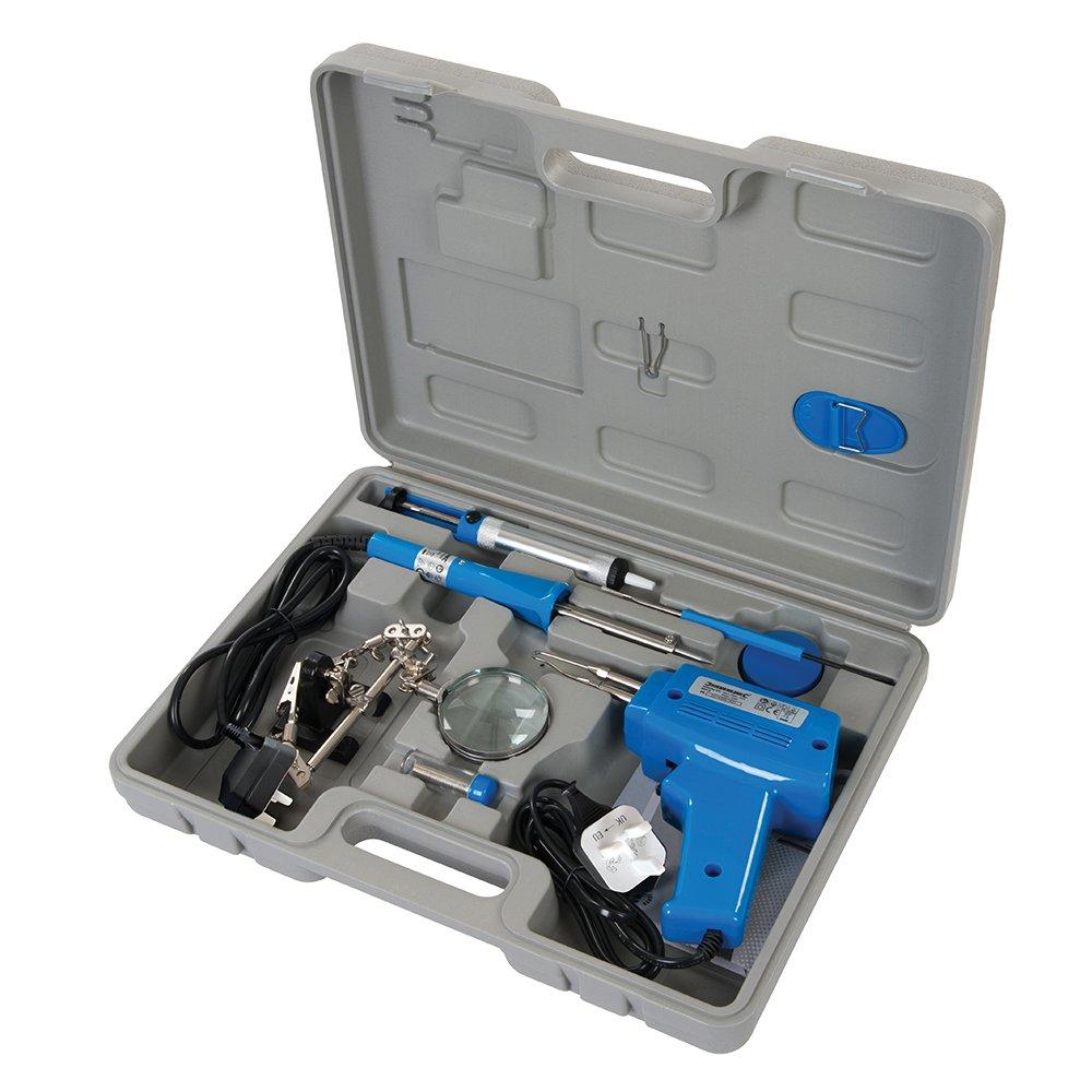 Silverline 845318 - Herramientas para soldadura elé ctrica, 9 pzas (100 W / 30 W) Toolstream