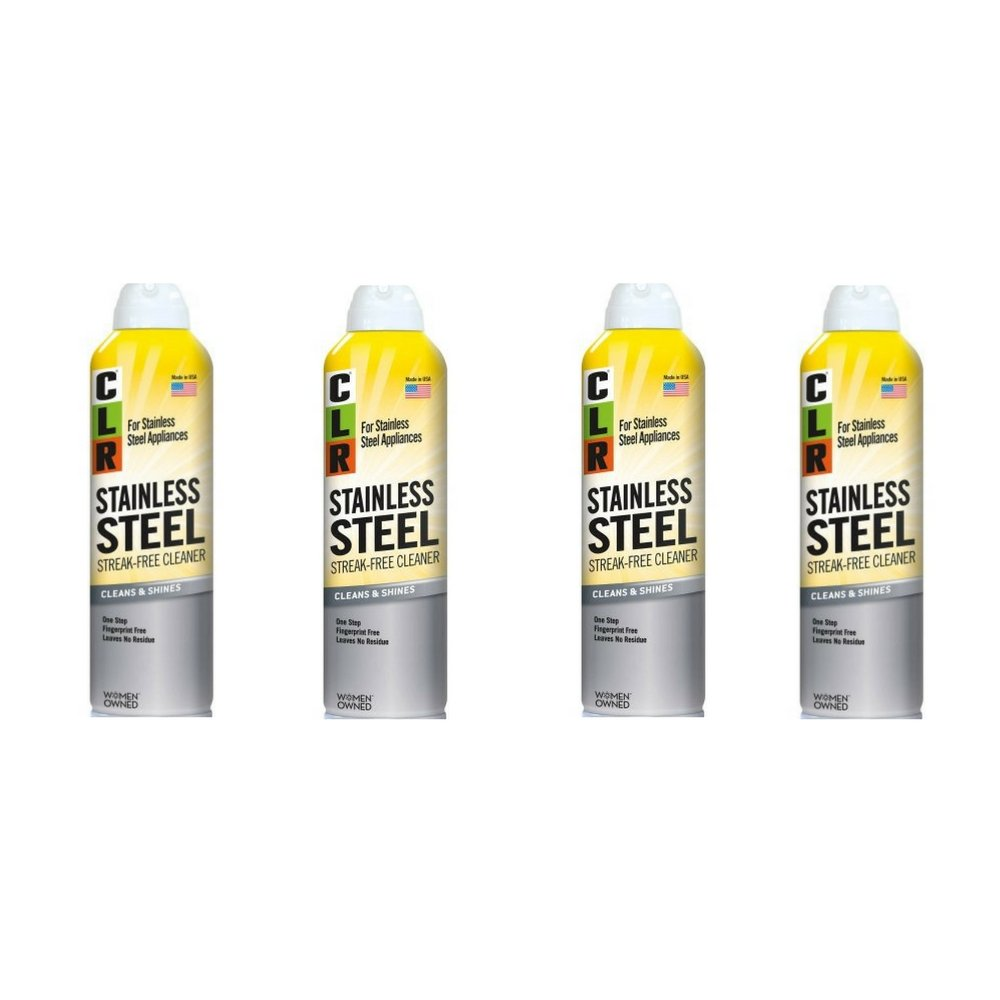 CLR CSS-12 Stainless Steel Cleaner, 12 oz Aerosol Spray, Pack of 4