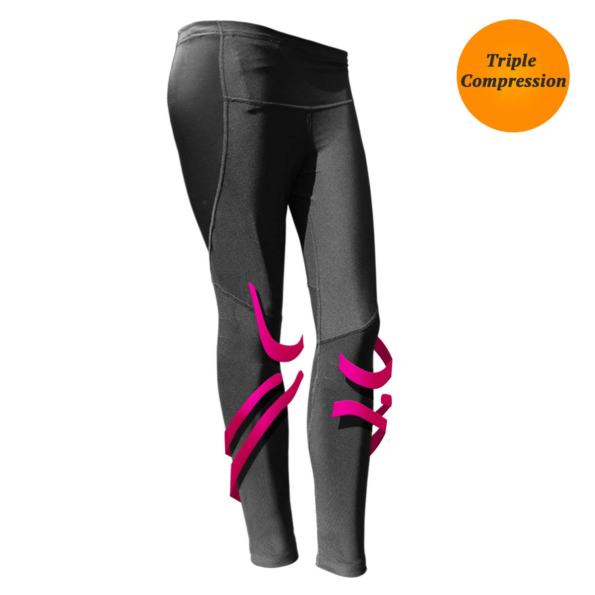 BODYVINES Women's Compression Long Tights Athletic Leggings for Workout Training