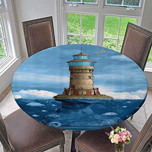 Costa Reef Dress - Mikihome Round Fitted Tablecloth Reef Fish Undersea 63