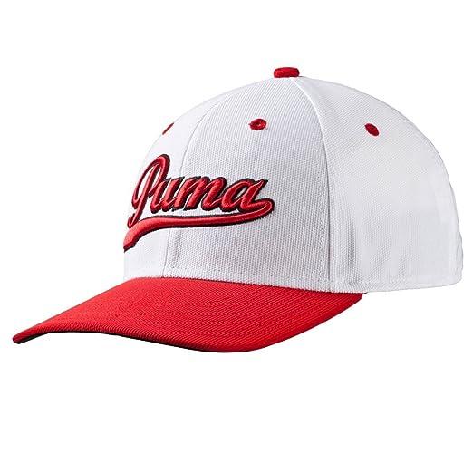 Amazon.com  PUMA Golf Kids Boy s Script Cap (Big Kids) White High ... 5ad0533f948