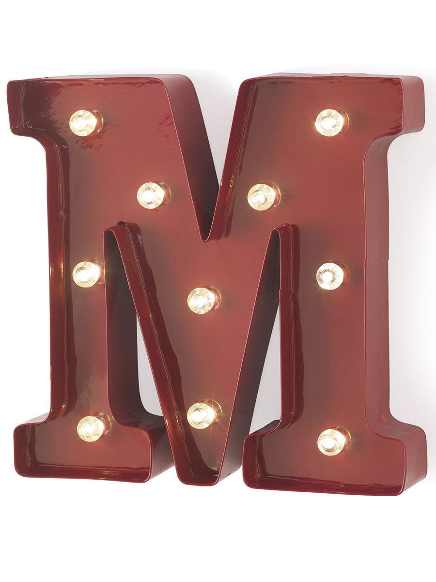 Top Metallo lettera luci rosso - g retro vintage  DM35