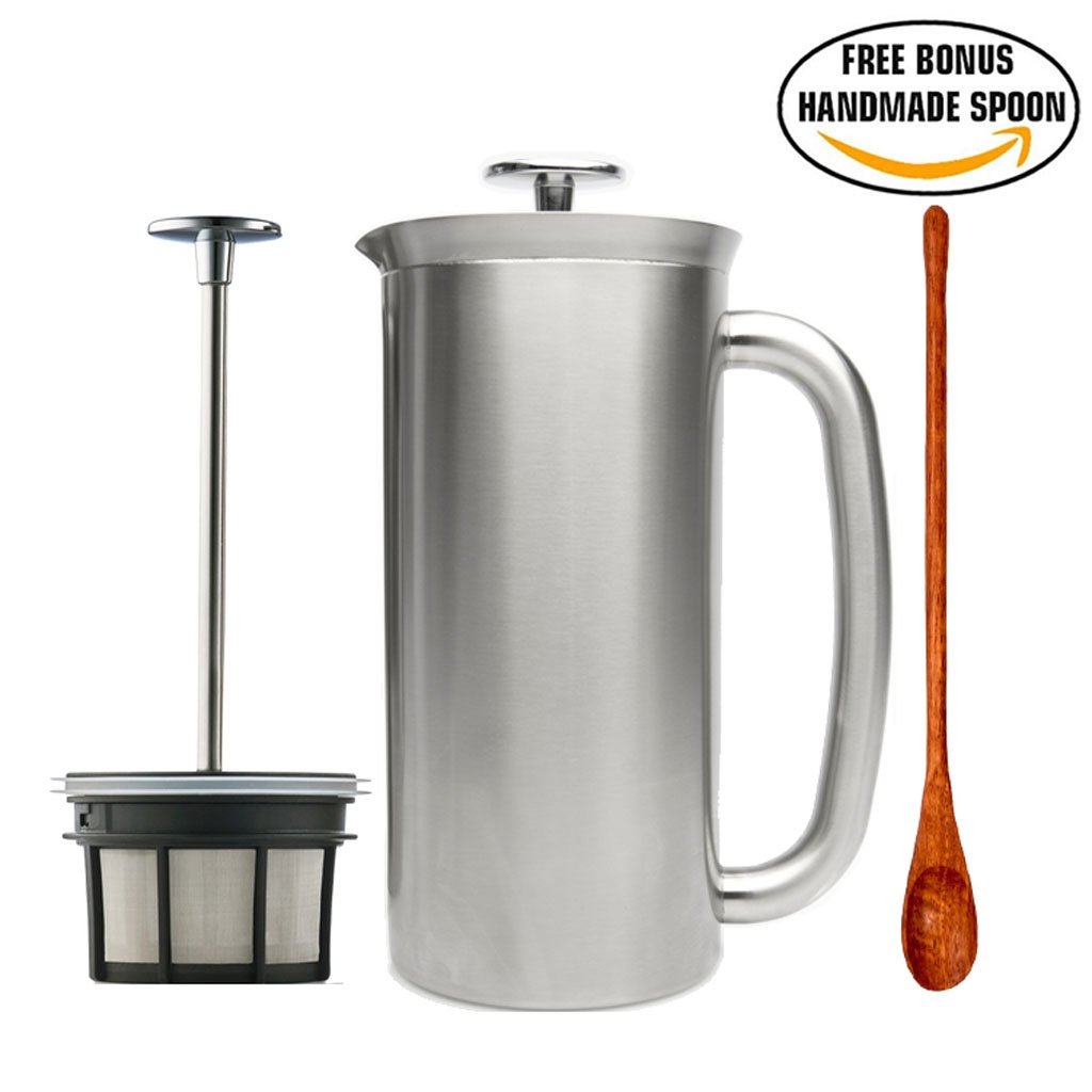 Espro Press Stainless Steel Coffee Press Double Wall, Vacuum Insulated (6-8 cups, 32 oz)