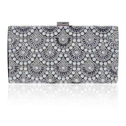 Party Evening Black Handbag Damara Women's Beads Gorgeous OCIPtWRqWw