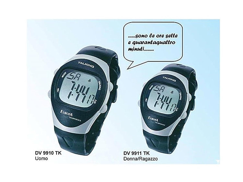 Orologio talking lcd uomo quarzo indicazione vocale europa technology amazon it orologi