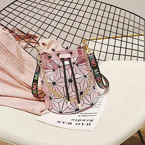 Paquet à WSLMHH la Mode féminine à Large Portable Rose géométrique de Bande Petit Sac Une Fille épaule marée Sauvage Sac Messenger dwgPwq