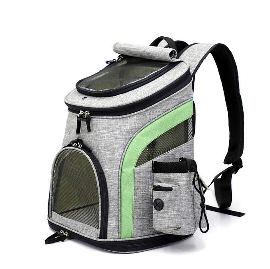 Nosterappou Cotton and linen breathable pet backpack, small and medium cats and dogs out of the portable pet backpack, can accommodate small pets such as cats and dogs within 5kg, travel picnic or oth