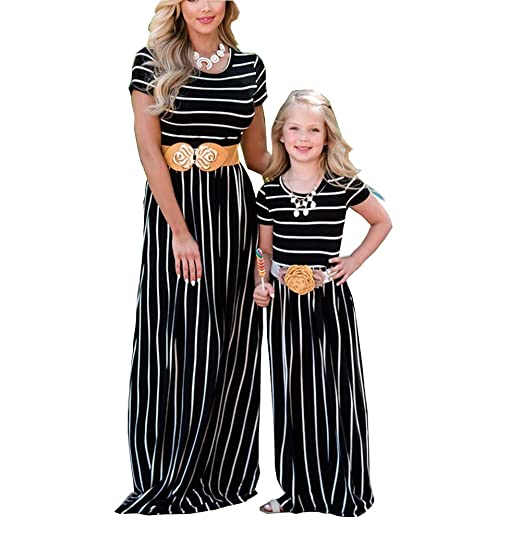 d08110526111 Amazon.com  Mother and Daughter Dress Parent-Child Clothes Family ...