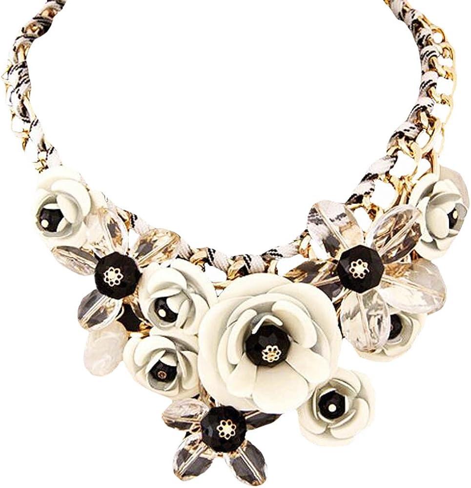 Colorido Joyas de la Flor de Moda Colgante, cordón, Collar, Camisa, decoración