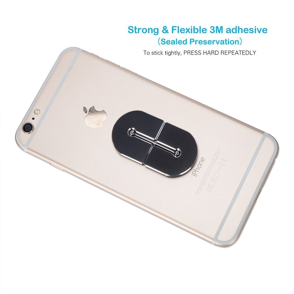 Coolker Cell Phone Finger Ring Holder 360 Rotation Universal Mobile Phone Bracket Car Mount Holder Stand for Mobile Devices GPS 4352721061