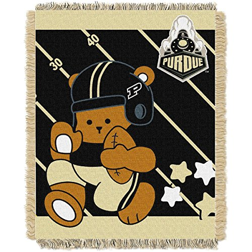 THE NORTHWEST COMPANY PURDUE BOILERMAKERS FULLBACK BABY TRIPLE WOVEN JACQUARD THROW