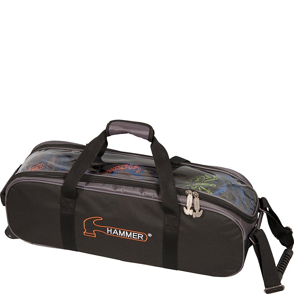 Hammer Premium Triple Tote Bowling Bag, Black/Carbon