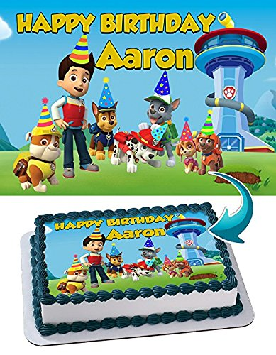 COW A4 A4 Edible Icing Birthday Cake Party Decoration Topper
