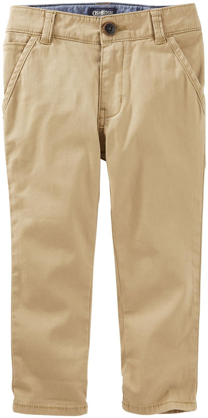OshKosh B'Gosh Boys' Woven Pant 31813910, Brown, 4 Kids by OshKosh B'Gosh (Image #1)