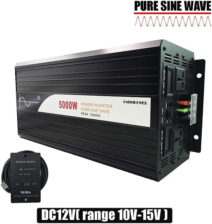 DC 12V to AC 120V Pure Sine Wave power Inverter DC 12V 24V 48V to AC 120V 60HZ Solar converter For Home Use car Peak 6000W xijia 3000W