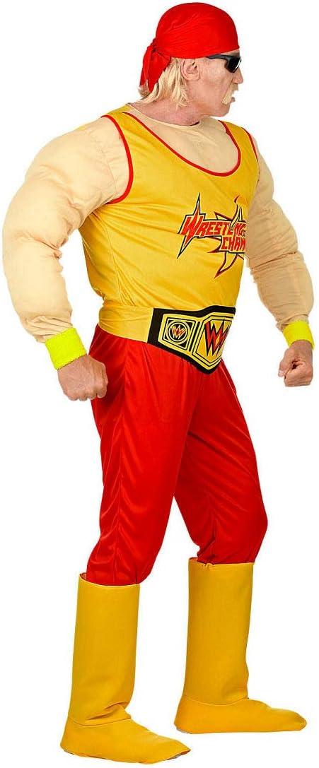 Original Disfraz Luchador Libre para Hombre / Amarillo-Rojo S (ES ...
