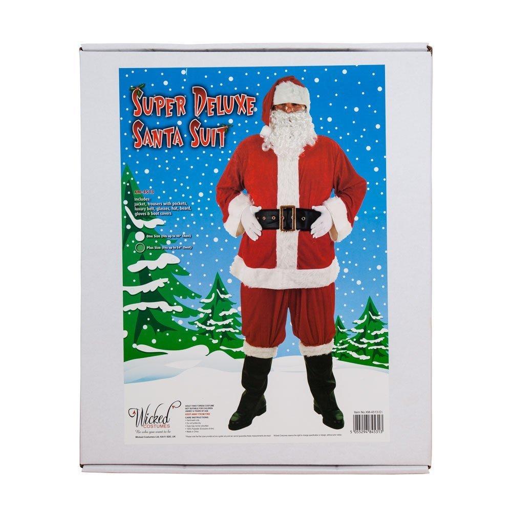 6718a00dfcf7 Santa Suit (Super Deluxe) - Adult Costume Men  STANDARD  Amazon.co.uk  Toys    Games