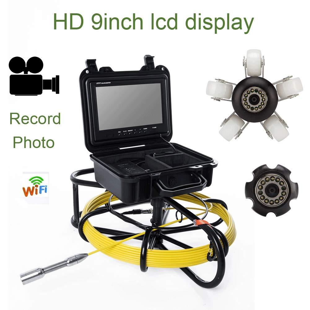 9インチWIFI工業用パイプライン下水道検知カメラIP68防水排水検知1000 TVL DVR機能、50 M