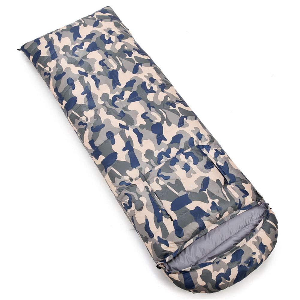 スリーピングバッグ、軽量暖かい睡眠バッグ大人封筒快適睡眠袋屋外快適さ4シーズンスリーピングパッド,red,2000g B07MX26C2C camouflageblue 1500g 1500g|camouflageblue