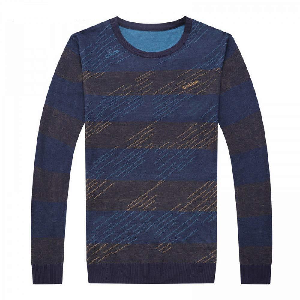 JIAKENVDE Herren Pullover Lässige Gestreifte O-Ausschnitt Pullover Kleidung Herbst Pull Homme Plus Größe Shirt 8147