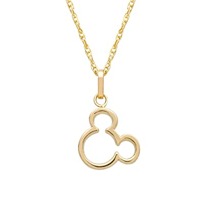 Disney Women s Jewelry Mickey Mouse 14k Yellow Gold Pendant Necklace a4ce2d3cd7